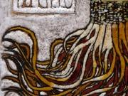 Le citta' del cielo (cuerda seca-smalti ceramici; cm.15x15)