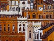 La Citta' ritrovata (cuerda seca-smalti ceramici; cm.20x20)