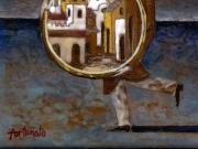 Il ladro delle citta' (smalti ceramici; cm.15x15)