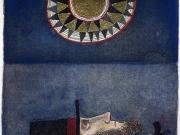 Il Sogno del Capitano (acquaforte-acquatinta-oro colorata a mano,lastra mm 88x108)