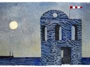 La Casa del marinaio (acquaforte-acquatinta col.a mano, lastra mm.160x100)