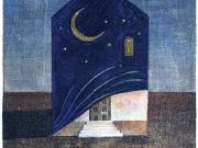 La Casa della Notte (acquaforte-acquatinta col.a mano, lastra mm.136x160)