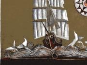 Storie di mare (acquaforte-acquatinta col.a mano, lastra mm.120x147)