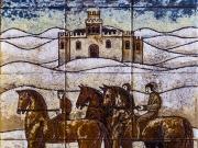 Veneziani (cuerda seca-smalti ceramici cm. 40x30 assemblaggio)