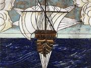 Venti (cuerda seca-smalti ceramici, assemblaggio cm.30x30)