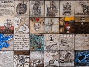 La Storia della Querina 1° (tecniche miste su carta cm.56x76)