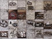La Storia della Querina 2° (tecniche miste su carta cm.56x76)