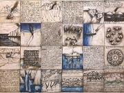 La Storia della Querina 3° (tecniche miste su carta cm.56x76)