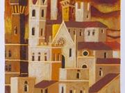 La Citta' ritrovata (Serigrafia ritoccata a mano cm.70x25)