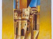 Paesaggio sospeso (serigrafia ritoccata a mano cm. 50x35)