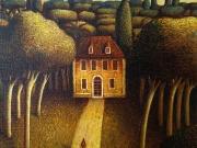 Paesaggio inatteso (olio su tela cm.30x30)2004
