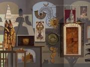 Pinocchio (olio su tavola cm.180 x 300, trittico)
