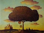 l campo dei miracoli(olio su tela cm.30x30)