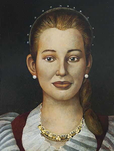 Ritratto di E. Elisa ( olio su tavola cm 40x30)