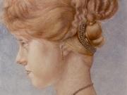 Flaminia (pigmenti, matite, tempera, oro su carta cm. 80x60) 1990
