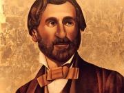 Giuseppe Verdi nel 1849 (olio e foglia d'oro su tavola cm.163,5x163,5)