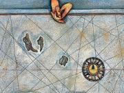 Carta nautica (tecnica mista su carta, 50x70 cm)
