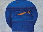 Il pesce d'oro (tecnica mista su carta, 50x70 cm)