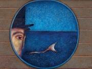 Lo sguardo del capitano (tecnica mista su carta, 50x70 cm)