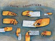 Poste oceaniche (tecnica mista su carta, 50x70 cm)