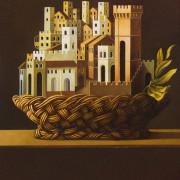 Paesaggio italiano (olio su tavola cm.80x70)