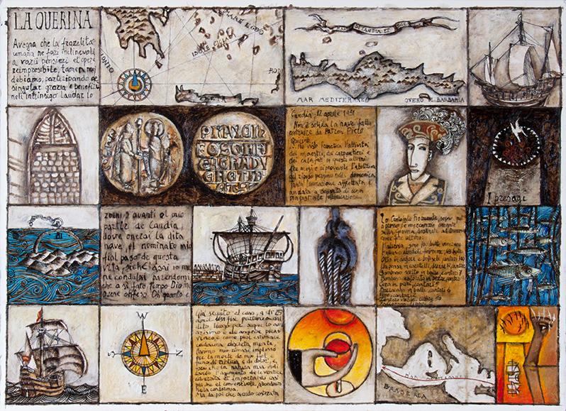 Storia della Querina N°1 (TM su carta, cm. 56x77)