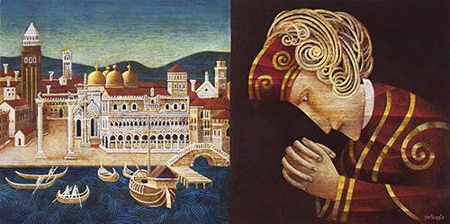 La preghiera di Pietro (olio su tavola cm.40x80)