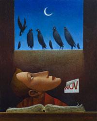 L'inverno di Kant (olio su tavola, cm.50x40)
